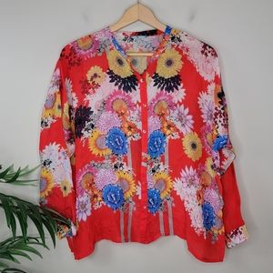Johnny Was | Mishka Floral Button Up Blouse